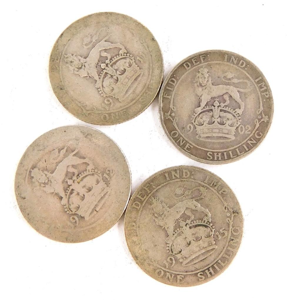 Various pre 1920 British shillings.