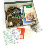 A quantity of British coins, to include a George III 1817 half crown, an early hammered coin dated 1