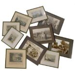 A collection of 19thC and later prints, to include Stone Bow Lincoln, Lincoln from the Castle, Sudbr