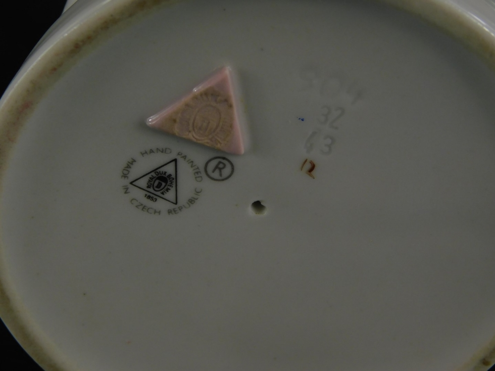 A Royal Dux porcelain figure of a praying child, circular printed mark to underside and pink triangl - Image 2 of 2