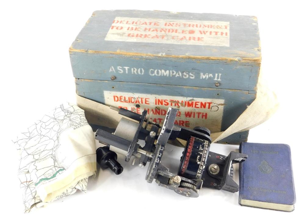 A collection of RAF memorabilia, to include a Lancaster bomber Navigators Astro compass, in original