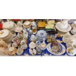 Decorative china and effects, to include a coffee can and saucer, a quantity of Bavarian part dinner