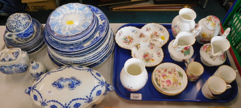 Decorative china and effects, to include a Spode Hammersley jug, jar and cover, a pair of Royal Worc