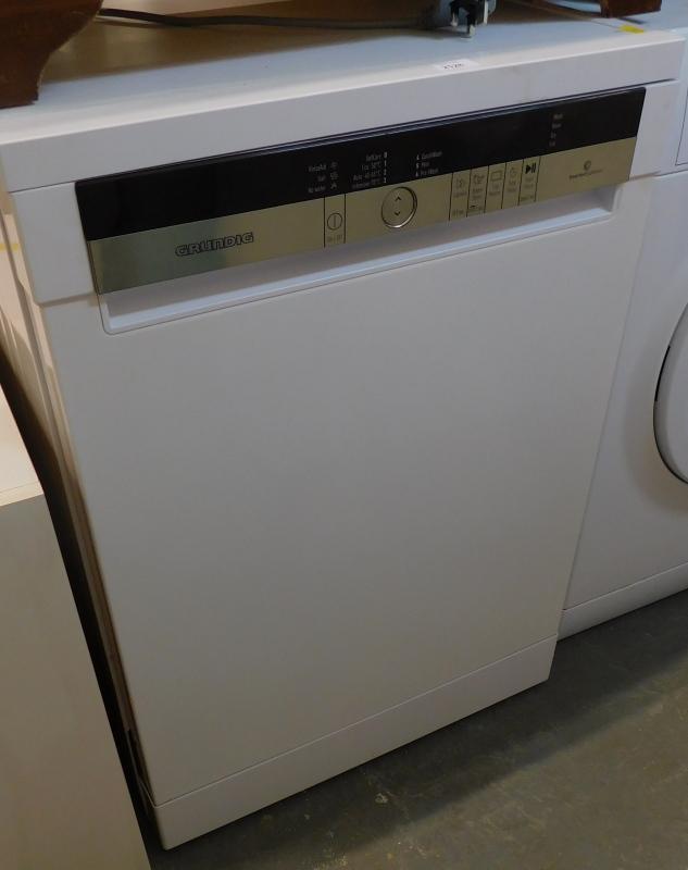 A Grundig Inverter Ecomotor dishwasher.