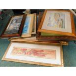 A quantity of pictures, prints, etc. (a quantity)