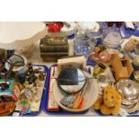 General household effects, to include mixing bowl, brass watering can, glass part dressing set (AF),