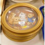 A set of three Bubble Buddies Franklin Mint limited edition plates, framed. (3)