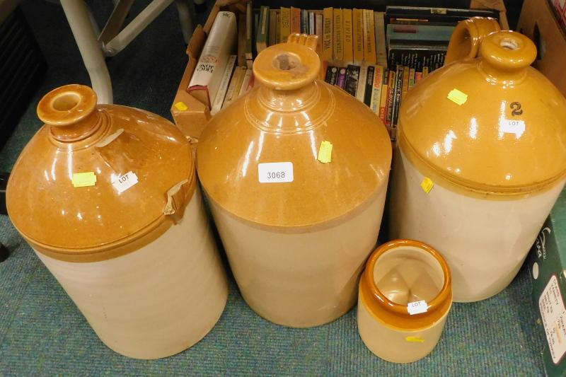 A quantity of stoneware flagons, etc. (AF)