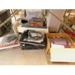 A quantity of DVD players, to include Sony, an oil filled radiator, tower heater, etc. (contents of