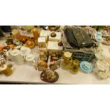 Various part tea and coffee services, to include Tiko, a microscope, Ringtons Tea tin, quantity of L