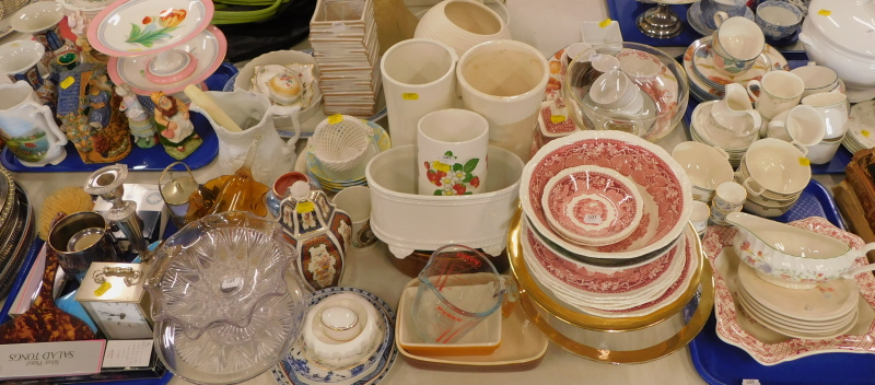 Decorative china and effects, part teawares, Mason's Ironstone Vista pattern dinnerwares, jar and co