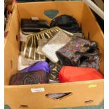 A quantity of ladies evening bags, to include a Kurt Geiger sequinned bag, sequin clutch bags, satin