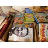A quantity of books, children's annuals, etc. (a quantity)