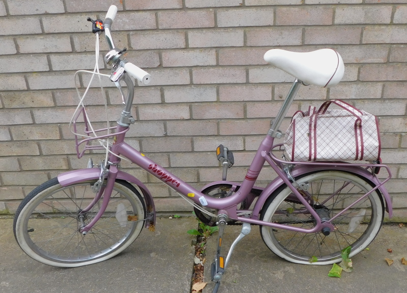 A Phillips shopper bicycle, in purple.