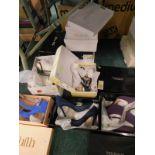 A quantity of ladies shoes, to include Faith, Miss KG, Debenhams, etc., mainly size 5. (a quantity)