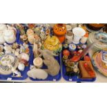 Decorative china and effects, to include various figures, an elephant figure, trinket boxes and cove