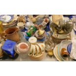 General household effects, to include various part teawares, horse figure, commemorative mug, tureen