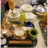A quantity of Adams Karina pattern part dinner wares, to include a tureen and covers, dinner plates,