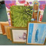 Various pictures, prints, canvas prints, etc. (a quantity)