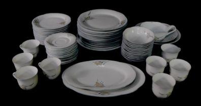 A Winterling Marktleuthen of Bavaria tea and dinner service, comprising twelve dinner, dessert, bowl