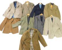 Gentleman's jackets and suits, to include Brooke Taverner., Joseph Turner., Lands End., Harris Tweed