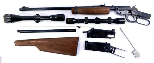 A Daisy Model 1894 .22 air rifle (AF), together with a Nikko Stirling 3 - 9x40 gun sight, and a Tiar