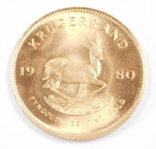 A South African full Krugerand 1980, 34g.