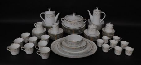 A Noritake porcelain part dinner tea and coffee service decorated in the Estrellita pattern, compris