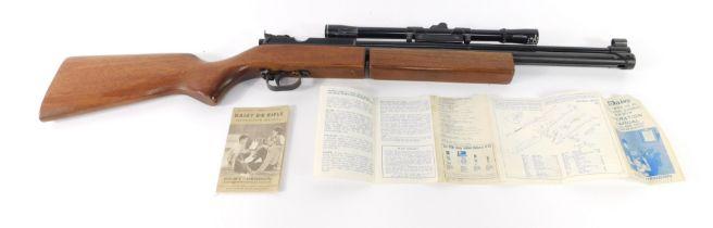 A Sharp-Innova .177 pump up air rifle, with an ASI 4x15 gun sight.