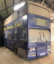 For Sale by Tender. A 1984 Leyland Titan T970 double decker bus, A970 SYE, converted for use as a m