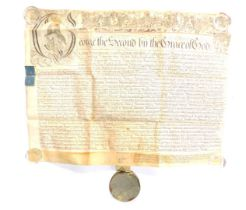 A George II document, detailing a court case before Sir John Willes, Knight and his Bretheren Justi
