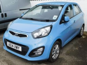 A Kia Picanto 1.0, Registration AE14 XWY, first registered 01/03/2014, five door hatch back, petrol,