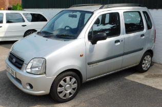 A Suzuki Wagon R+GL, registration DV57 ZNU, first registered 26/11/2007, five door hatchback, petrol