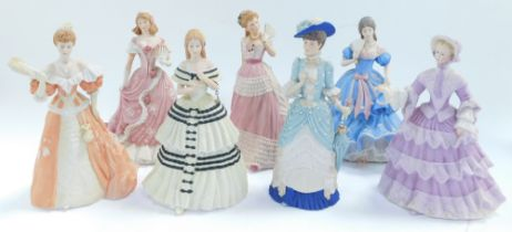 Seven Wedgwood porcelain figures, limited edition, for Spink., comprising The Coronation Ball., Chri