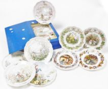 Various collectors china, to include Royal Doulton Brambly Hedge collection collectors plates, Sprin