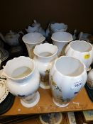 A group of Aynsley Cottage Garden china, to include mainly tall vases, etc. (1 tray and 4 vases)