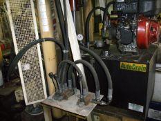 An Autodrain hydraulic press.