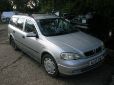 A Vauxhall Astra 1.6L estate, registration AC03 GHH, 124,014 miles, vehicle starts and has been run