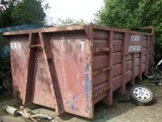 Withdrawn Pre Sale - A roll on roll off scrap skip.