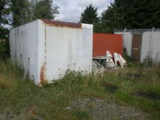 Two truck bodies for storage containers and their contents, plus the contents of the jack leg porta