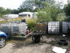 Six pallet type water bowsers.