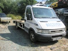 An Iveco recovery truck, registration FJ56 VHK, with YETI wince, 140,510 miles. Engine has been run