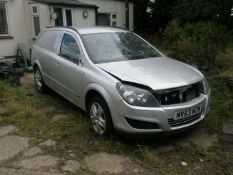 A Vauxhall Astra Sportive van 1.7 CDTI, registration MV63 NZW. The head has been removed from the e