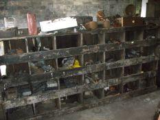 Miscellaneous collectors car parts and automobilia, comprising dials, gauges, wiper motor , radios,