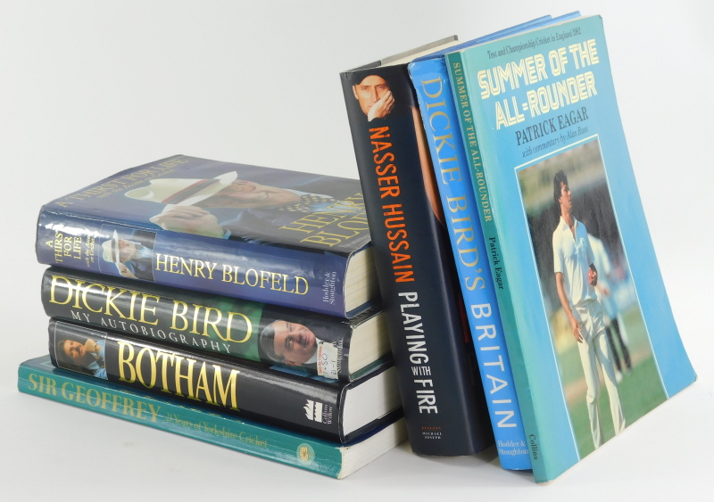 Various books, autobiographies, cricket related, etc., Blofield (Henry) A Thirst for Life, hardback