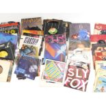 A quantity of 1960s and later 45 singles, to include some heavy metal, Iron Maiden, Saxon, etc.