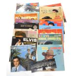 A collection of Elvis Presley LP records, to include How Great Thou Art, Flaming Star, Somebody for