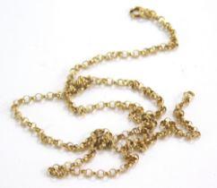 A 9ct gold belcher chain, 50cm long, 3.8g.