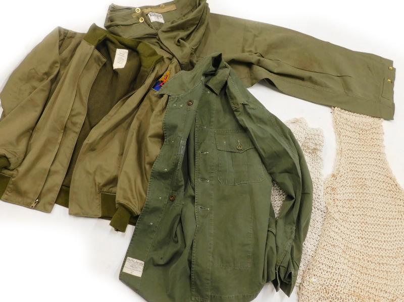 A Second World War winter combat jacket, size Medium, label for De Brander Co, dated February 29 194