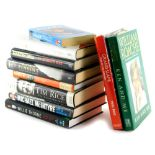 Various books, autobiographies, Woolridge (Ian) Mary Peters, hardback with dust wrapper, signed, a s